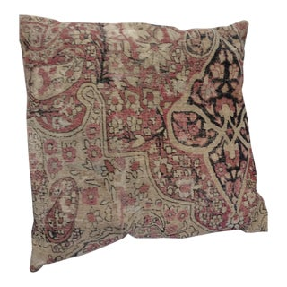 Large Antique Rug Fragment Pillow