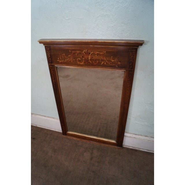John Widdicomb Hand Painted French Style Mirror - Image 2 of 10
