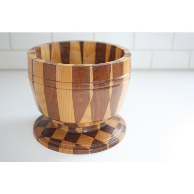 Lidded Wooden Pedestal Bowl - Image 9 of 10