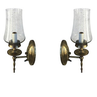 Thomas Ind. Mid-Century Brass Sconces - A Pair