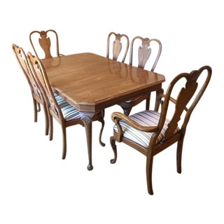 Vintage Carved Heirloom Dining Set - Set of 7