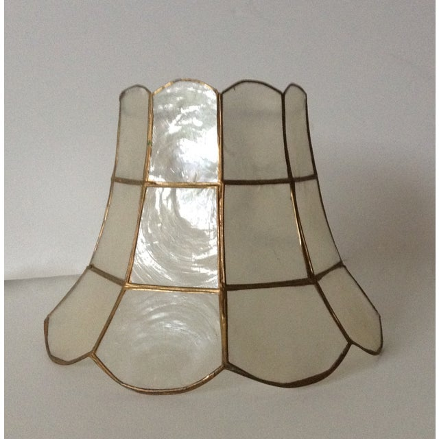 1960's Capiz Shell Scalloped Clip-On Shade - Image 2 of 7