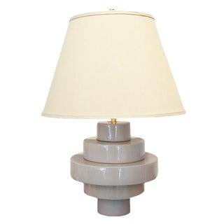 Customizable Porcelain Disc Table Lamp