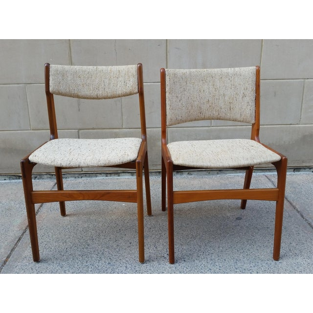 Danish Modern Teak Dining Chairs - A Pair - Image 2 of 7