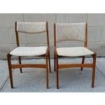 Image of Danish Modern Teak Dining Chairs - A Pair