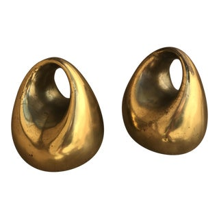 Ben Seibel Jenfred Ware Orb Bookends - A Pair
