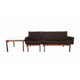 Mid-century Walnut Seating Arrangement with Table