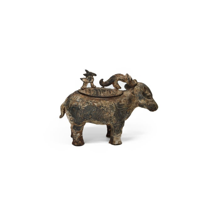 Image of Chinese Ram Vessel Archaistic Bronze