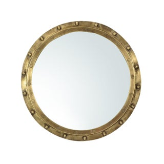 Industrial Brass Rivet Mirror
