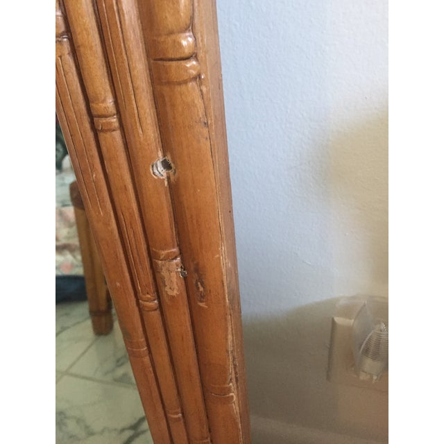 Vintage Mid-Century Faux Bamboo Mirror - Image 5 of 6