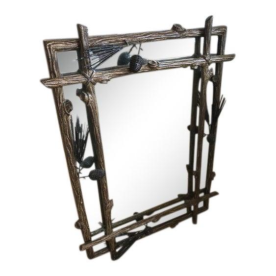 Adirondack Iron Pinecone Mirror - Image 1 of 5