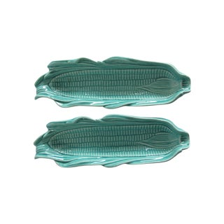 Turquoise Corn Servers - A Pair