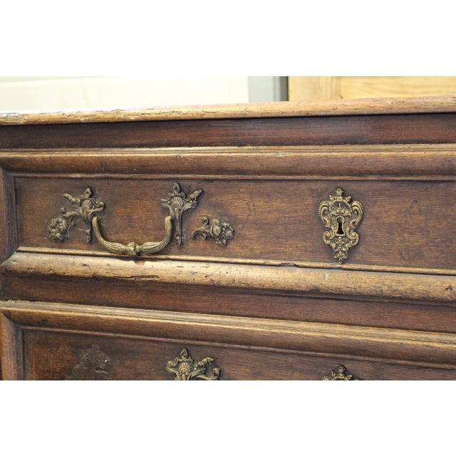 French Oak Louis XV Style Commode - Image 6 of 8