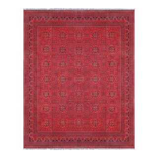 "Pasargad Yamoud Red Wool Area Rug- 9'10"" X 12' 9"""