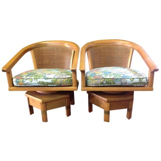 Jim Peed Mid-Century Swivel Chairs - A Pair