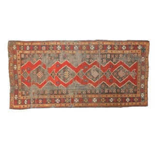 "Antique Kazak Rug Runner - 3'8"" x 7'7"""