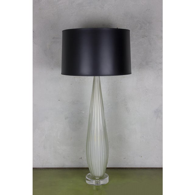 Archimede Seguso Vintage Murano Glass Table Lamp - Image 7 of 7