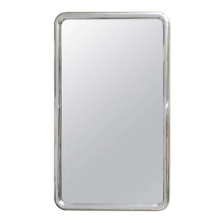 Modernist Steel Mirror