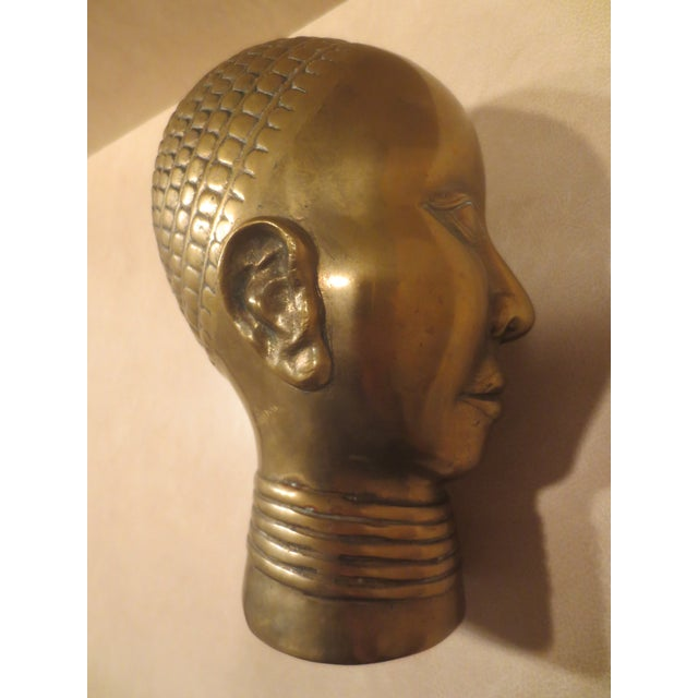1980 Dolbi Cashier Brass Female Head - Image 3 of 7