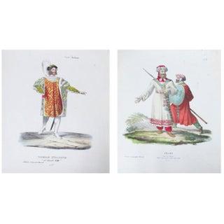 Original 1799 Italian Prints of Soldiers - A Pair
