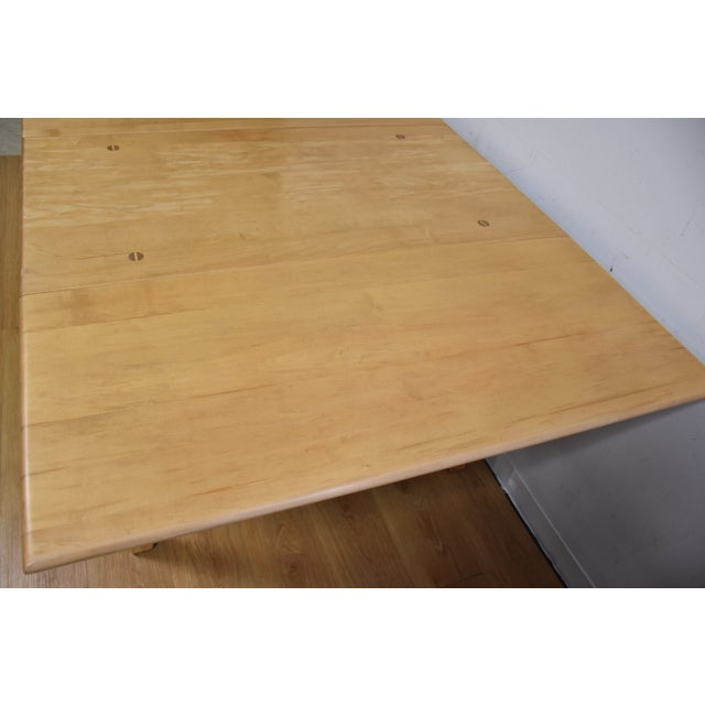 Mid-Century Maple Drop Leaf Dining Table - Image 7 of 11