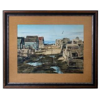 Peter Rolfe - Maine Lobster Village Watercolor