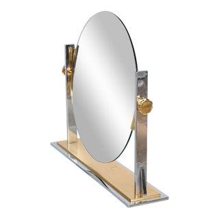 Karl Springer Mixed-Metals Vintage Vanity Mirror