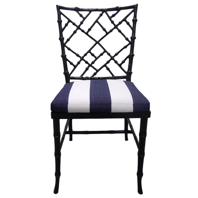 Kessler Black Bamboo-Style Dining Chairs - Set of 6 - Image 2 of 7