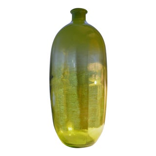 Green Glass Spaniard Decorative Bottle