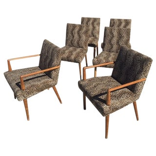 Widdicomb-Style Leopard Dining Chairs- Set of 6