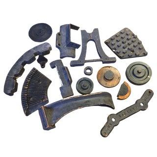 Various Vintage Wood Machinery Parts