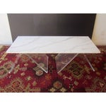 Image of Italian Lucite & Marble Coffee Table
