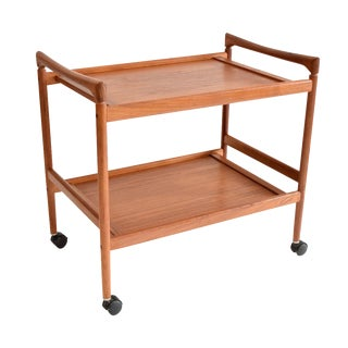 Danish Teak Bar Cart by Dyrlund