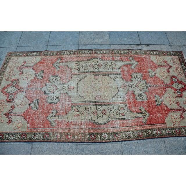 Bohemian Floor Wool Rug - 3′6″ × 7′4″ - Image 4 of 6