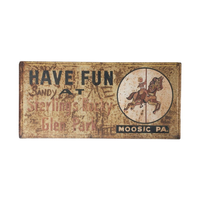 Have Fun At Sterling's Rocky Vintage Metal Sign - Image 1 of 4