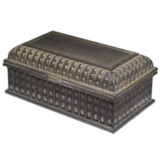 Early 20th-C. Solid Pewter Box