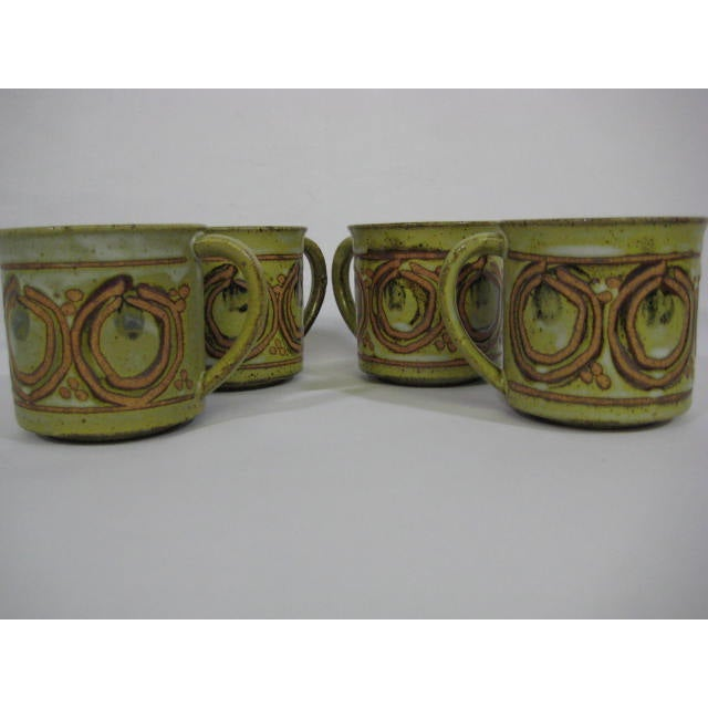 Vintage Stoneware Mugs - Set of 4 - Image 2 of 7