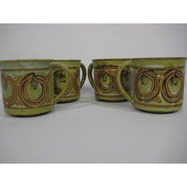 Image of Vintage Stoneware Mugs - Set of 4
