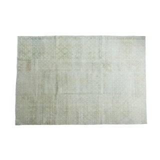 "Modern Distressed Oushak Carpet - 6'10"" x 10'"