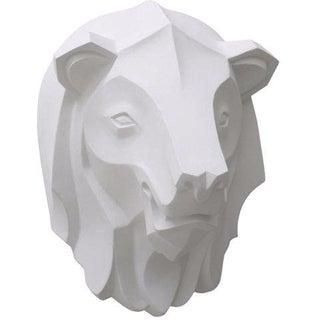 White Lion Head Wall Decor