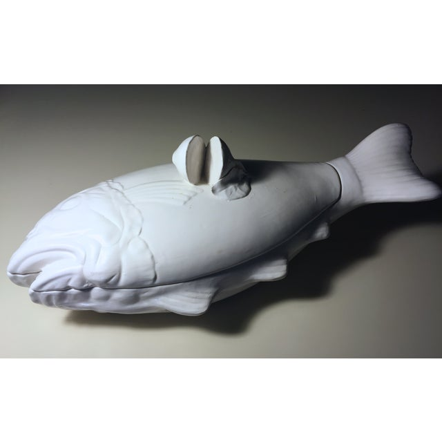 Image of Italian Creamware Fish-Shaped Tureen With Lid