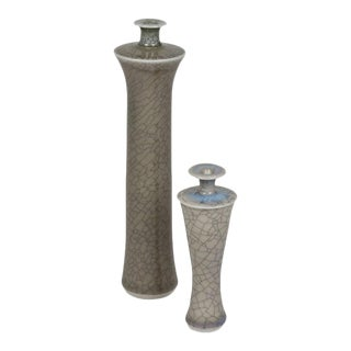 Two Bottle Vases by Roger Collet