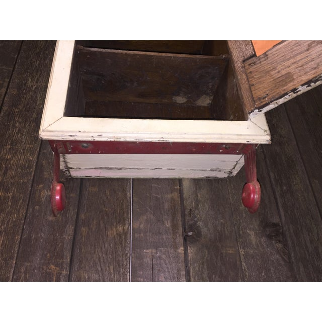Vintage Cottage Chic White Mirrored Medicine Cabinet - Image 8 of 11