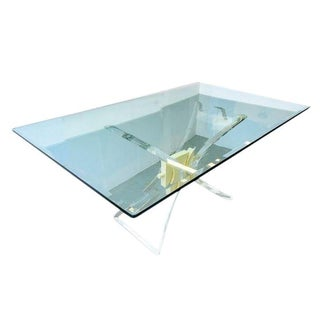 Lucite X-Base Dining Table