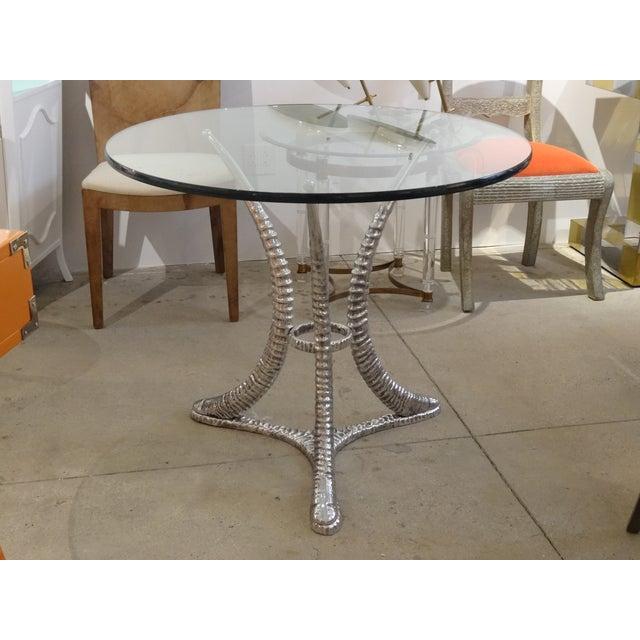 "Arthur Court ""Tusk"" Aluminum Dining Table - Image 3 of 6"