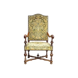 Antique Louis XIV-Style Upholstered Armchair