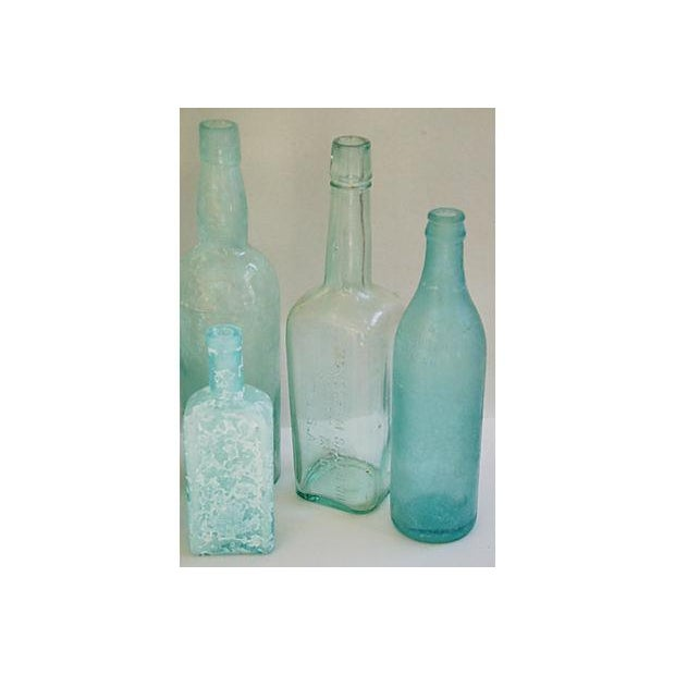 Antique Mediterranean-Blue Bottles - Set of 8 - Image 8 of 8