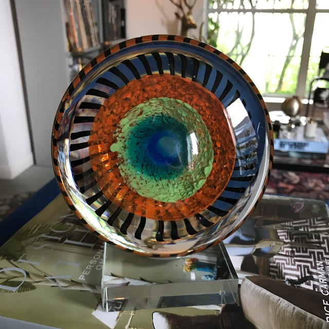 Murano Glass Eye Sculpture on Stand - Image 5 of 5