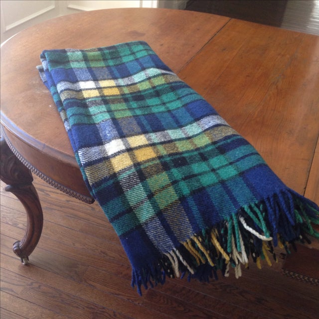 Plaid Wool Tailgate/Picnic Blanket - Image 8 of 11