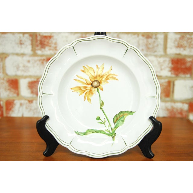 """Set of 66 French Luneville Hand-Painted Floral Dining Plates """"Rovina Epinal"""" - Image 6 of 11"""